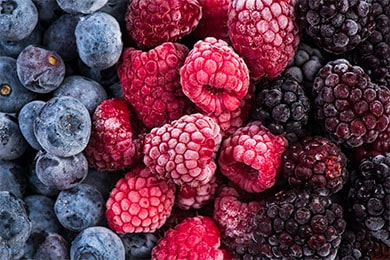 Frozen blackberry,raspberry and blueberry fruints